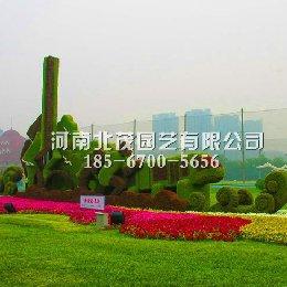 天津泰达五色草雕塑 奔跑的泰